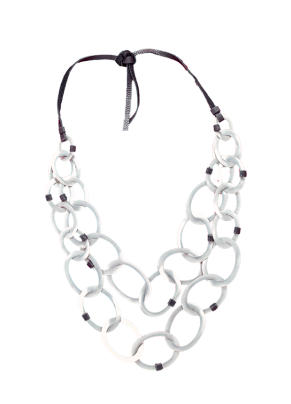 Cobo 35, Bronze Necklace with Silver Rings