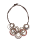 Cobc 08: Bronze Necklace with Resin and Bronze Rings | Majo