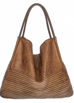 Boes 9380: Leather Shoulder Tote Bag with Twin Handles