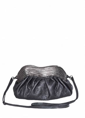 Boes 468: Leather Clutch Bag with Shoulder Strap