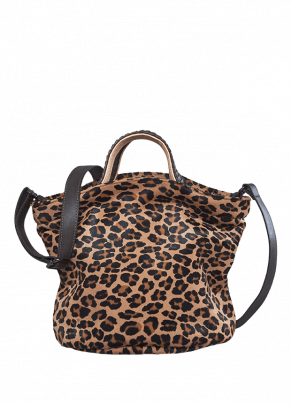 Boes 472: Leather Printed Bucket Bag with Top Twin Handles
