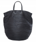 Boes 9370: Black Leather Shopper Bag with Twin Top Handles | Majo