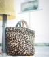 Boes 472, Leather Animal Printed Bucket Bag with Top Twin Handles | Majo