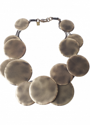 Coga 03, Bronze Necklace with bronze Discs