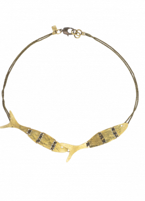 Coto 03, bronze necklace with pantographed elements