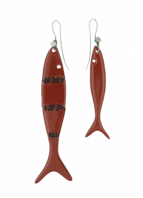 Orto 01 Bronze fish earrings